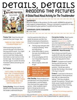 The Troublemaker by Lauren Castillo Activity for Global Re