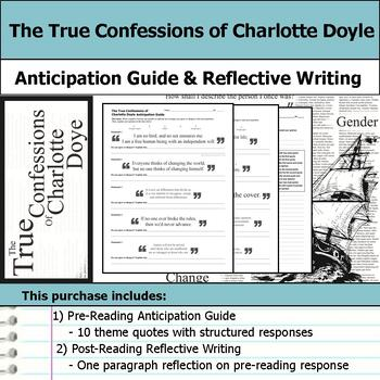 The True Confessions of Charlotte Doyle - Anticipation Guide & Reflection