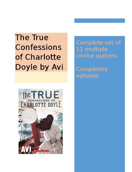 The True Confessions of Charlotte Doyle - Complete set of 11 quizzes