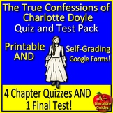 The True Confessions of Charlotte Doyle Test and Quiz Bundle Common Core