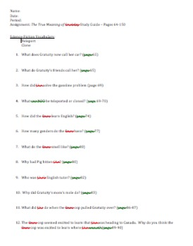 The True Meaning of Smekday Study Guide Questions & Final Test