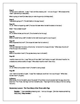The True Story of the 3 Little Pigs- Text Talk