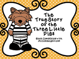 The True Story of the 3 Little Pigs Book Companion with NO