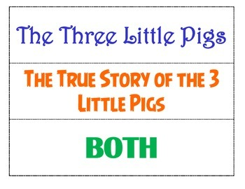 The True Story of the 3 Little Pigs - Version Comparisons