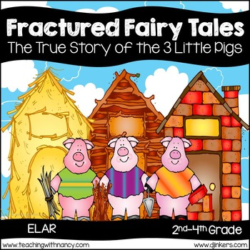 The True Story of the 3 Little Pigs and the Big Bad Wolf: A Fractured Fairy Tale