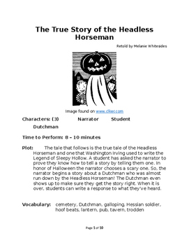 The True Story of the Headless Horseman - Small Group Reader's Theater