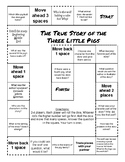 """The True Story of the Three Little Pigs"" Comprehension Game Board"