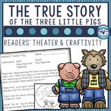 The True Story of the Three Little Pigs Readers' Theater Script and Craftivity