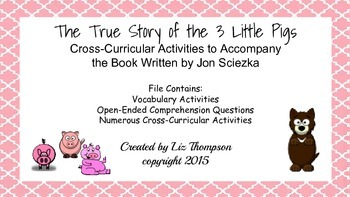 The True Story of the Three Little Pigs Unit
