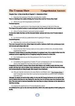 The Truman Show Comprehension Questions & Answers