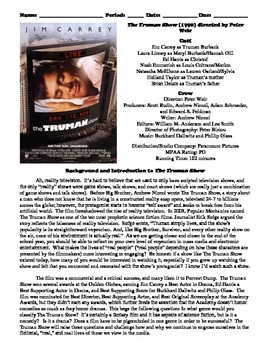 The Truman Show Film (1998) Study Guide Movie Packet