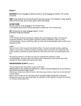 The Truman Show Film Study: Visual Language, Mis en Scene, and Cinematography