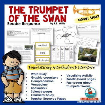 The Trumpet of the Swan - Teach Literacy with Literature- Reading Response Pages