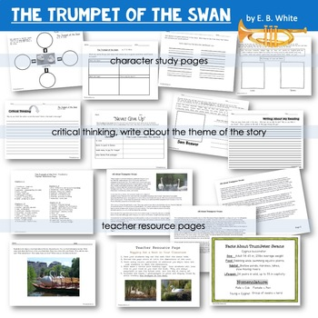 The Trumpet of the Swan | Reading Response | Writing Prompts | Book Companion