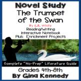 The Trumpet of the Swan Novel Study & Project Menu; Plus Digital Option
