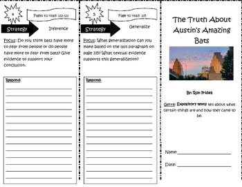The Truth About Austin's Amazing Bats Trifold 5th Grade Unit 6 Week 1