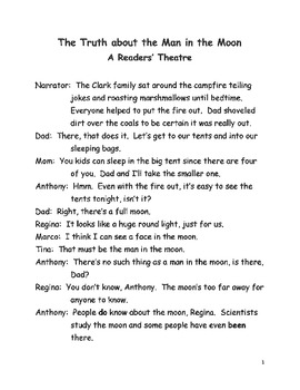 """""""The Truth About the Man in the Moon"""" Reader's Theater"""