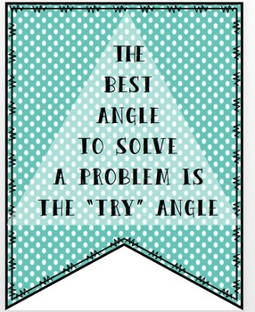 "The ""Try"" Angle Bulletin Board/Banner Set"