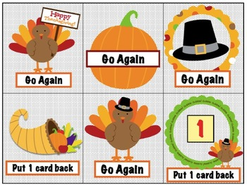 Thanksgiving Games: CVC Words (Short a,e,i,o,u)