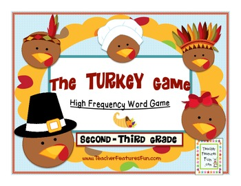 Thanksgiving Games & Activities FRY'S THIRD 100 & HIGH FREQUENCY WORDS