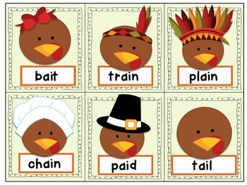 Thanksgiving Games & Activities VOWEL PAIRS & SILENT E