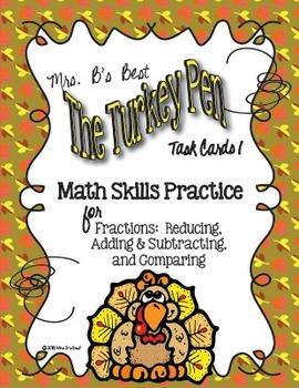 The Turkey Pen Bundled 4 Savings - THREE Math Task Card Sets