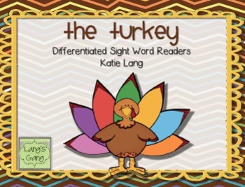 """Thanksgiving Sight Word Readers """"The Turkey"""""""