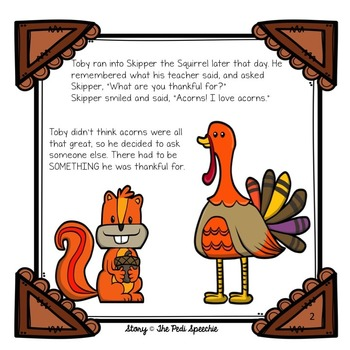 The Turkey That Wasn't Thankful: Speech and Language Thanksgiving Story