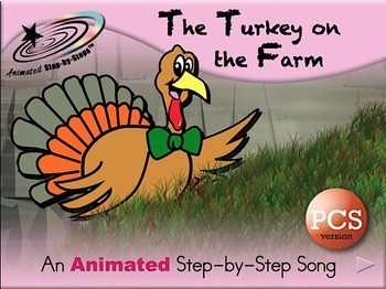 The Turkey on the Farm - Animated Step-by-Step Song PCS