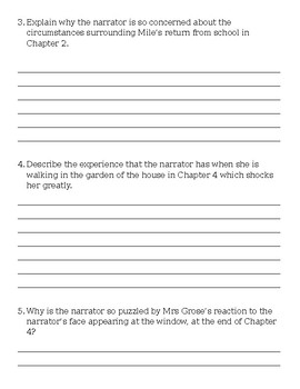 The Turn of the Screw Comprehension Test