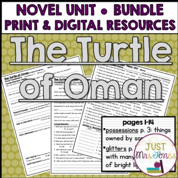 The Turtle of Oman Novel Unit