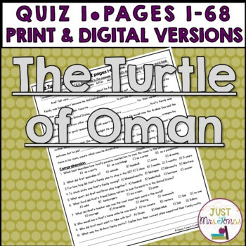 The Turtle of Oman Quiz 1 (pages 1-68)