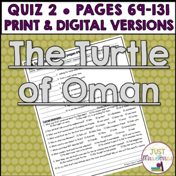 The Turtle of Oman Quiz 2 (p. 69-131)