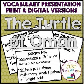 The Turtle of Oman Vocabulary Presentation