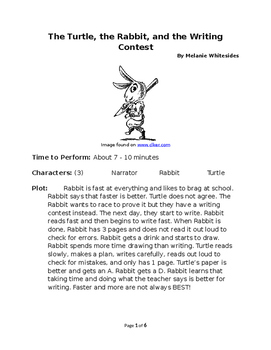 The Turtle, the Hare, and the Writing Contest - Small Group Reader's Theater