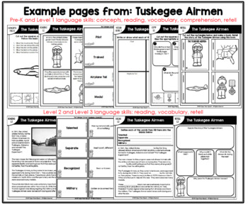 The Tuskegee Airmen (Activities for speech therapy)