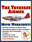 The Tuskegee Airmen Movie Worksheets: Cloze Worksheets