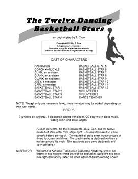 The Twelve Dancing Basketball Stars, an elementary play
