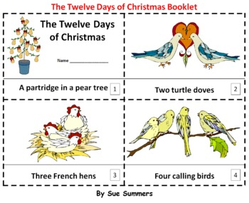 The Twelve Days of Christmas 2 Emergent Reader Booklets - ENGLISH