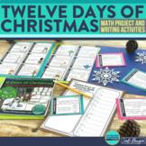 12 Days of Christmas Activities Math and Writing Digital and Printable