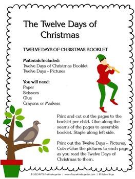 The Twelve Days of Christmas – DIY Cut-n-Paste Booklet