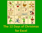 The Twelve Days of Christmas For Excel