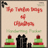 The Twelve Days of Christmas Handwriting Packet