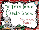 The Twelve Days of Christmas Sing A Long Posters