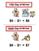 """The Twelve Days of Winter"" -- Math Rhymes and Subtraction Group Game, $12 - $0"