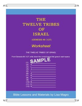 Genesis 49- The Twelve Tribes of Israel Handout w/TAK  No Prep  Print and Go!