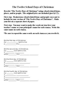 The Twelve School Days of Christmas