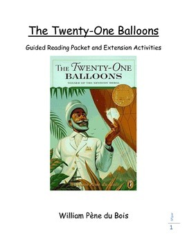 The Twenty-One Balloons Guided Reading and Extension Activities