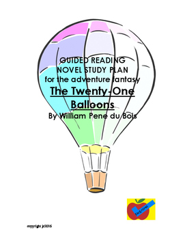 The Twenty-One Balloons guided reading novel study