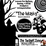"""The Twilight Zone """"The Masks"""" - Literacy Worksheets, Writing, Rubric, Discussion"""